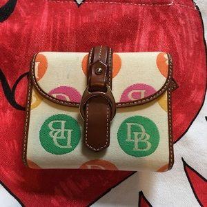 Dooney Bourke Green Brown Wallet